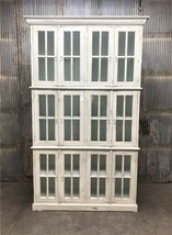 "4'10"" Triple Stack China Cabinet, Kitchen Cabinet, Bookcase, Kitchen Sto... - €1.382,84 EUR"