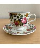 Sadler Wellington Olde Chintz Pink Roses Fine Bone China Cup and Saucer ... - $24.75