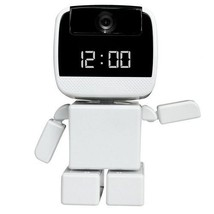 Robot Style 720p HD Baby Monitor Security Camera w/ Built-in Clock & Pan / Tilt