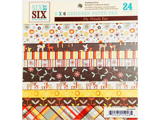 My Mind's Eye 6x6 Inch Darling Deer Designer Paper Pad #6x6106