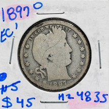 1897O Silver Barber Quarter Dollar 25¢ Coin Lot# MZ 4835