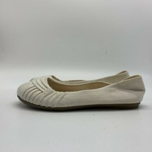 American Eagle Womens White Textile Slip On Flats Shoes, Size 7M - $13.86