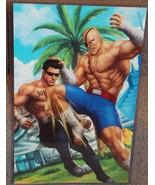 Johnny Cage vs Sagat Glossy Art Print 11 x 17 In Hard Plastic Sleeve - $24.99