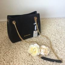 MICHAEL Michael Kors Jet Set Medium Leather Shoulder Bag - Black - $167.31