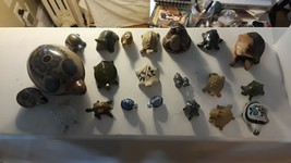 Lot of 20 Vintage Turtle Collection Figurine Pewter Glass Ceramic Porcel... - $55.74