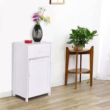 White Floor Storage Cabinet Bathroom Organizer Cupboard Drawer Shelf Bat... - $68.89