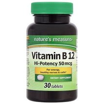 Natures Measure (B-12, 30 Tablets) - $8.99