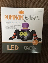 "New Gemmy Halloween 4"" Wide Spider With Hat Airblown/Infltable Yard Decor - $39.59"