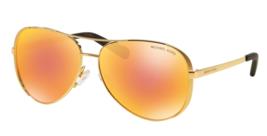 MICHAEL KORS Sunglasses CHELSEA MK 5004 1024F6 Gold Tone w/ Orange Flash... - $99.95