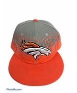 NFL Vintage Collection Denver Broncos Orange And Grey Flatbill Hat 9-40 - $13.95