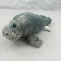 "Sea World Plush Manatee Ocean Stuffed Animal 9"" Sea Cow Soft Cuddly Toy - $10.36"