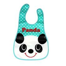 2 Pcs Fashionable Cartoon Panda Showerproof Comfortable Baby Bib image 2
