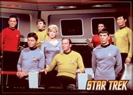 Star Trek: The Original Series Cast on the Enterprise Bridge Magnet, NEW UNUSED - $3.99
