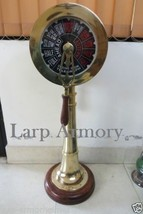 "36"" collectible ship engine telegraph with wooden base functional ring  - $290.00"