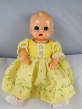 "Vintage 8"" Tall Plastic Baby Doll Open Close Eyes pretty dress slip stoc... - $16.82"