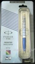 Parker Frontier Special Edition Ball Pen Ballpen Blue Rings Brand New Se... - $19.79