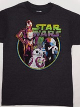 Star Wars Neon R2D2 and C-3po Droids Charcoal Heather T-Shirt - $12.00