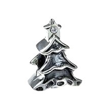 Real Sterling Silver 925 Christmas Tree Sterling silver jewelry bead Jew... - $25.22