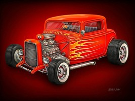 Hot Rod Metal Sign by Michael Fishel - $29.95