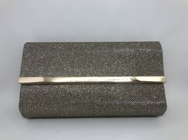 """Bare Minerals NEW Cosmetic Bag Clutch Metallic Gold """"Chandlelight Glow"""" - $12.46"""