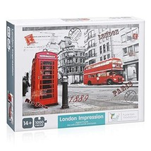Powerextra Best Gift 1000 Piece Jigsaw Puzzle: London Impression for Kids and Fa