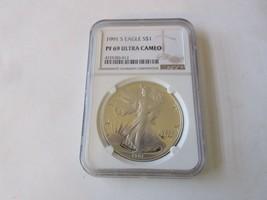 1991 S   Silver Eagle  S$1 PF 69 Ultra Cameo     NGC - $94.05