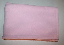 Circo BABY BLANKET Pink Boa Plush Solid Girls Lovey Target 2010 Soft 29x... - $408,56 MXN