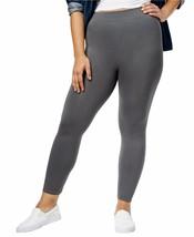 HUE Premier Looks Grande Taille sans Couture Leggings Solide Castlerock Gris 2X