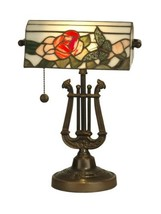 Dale Tiffany TT90186 Broadview Table Lamp, Antique Bronze and Art Glass ... - $999.99