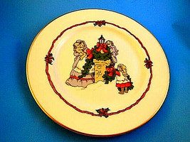 Vintage Fitz & Floyd Victorian Christmas Plate Decorating The Chimney 19... - $8.70