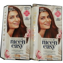 Clairol Nice'n Easy Hair Color 4RB Dark Reddish Brown Lot of 2 Kits Perm... - $17.81