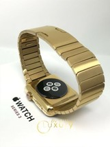 24K Gold Plated 42MM Apple Watch Series 3 With Gold L Ink Band Gps+Cellular - $857.55