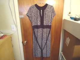 Jessica Howard Size 14 Brown & White Dotted Sleeveless Dress With Tie W... - €18,11 EUR