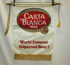 Carta Blanca Imported Beer Vertical Flag with Fringe - $24.74