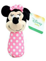 "Minnie Mouse Stick Rattle ""Disney Baby"" Pink w Polka Dots New w Gift Car... - $3.91"