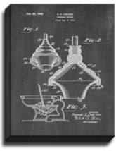 Toilet Plunger Patent Print Chalkboard on Canvas - $39.95+
