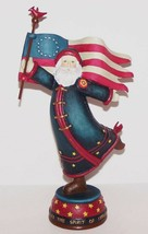"LOVELY 2002 DEMDACO AMERICANA CHRISTMAS KATHY KILLIP PATRIOTIC SANTA 7"" ... - $31.13"