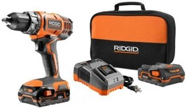Cordless Compact Drill Driver Kit Power Tool 18 Volt Lithium-Ion 1/2 in ... - $176.99