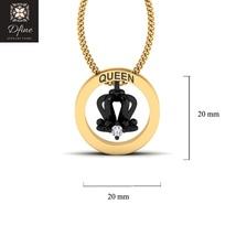 Womens Necklace Swarovski Diamond Royal QUEEN Crown Pendant 2 Tone Free ... - $149.99+