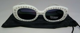 Steve Madden SM884104 BLING White Jeweled New Womens Fashion Sunglasses - $88.11