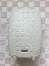 ALEXANDER McQUEEN SAMSONITE WHITE CROCODILE TROLLEY UPRIGHT LUGGAGE SUIT... - $1,089.00
