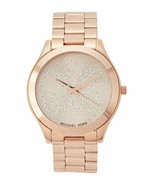 BRAND NEW MICHAEL KORS MK3591 ROSE GOLD STAINLESS STEEL GLITZ WOMEN'S WATCH - £116.03 GBP