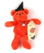 Hershey Kiss Orange Halloween BOO Bear Beanbag Plush 2000 in Witch Hat - $17.45