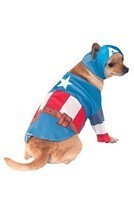 Rubies Marvel Captain America Comics Movie Tv Pet Dog Halloween Costume ... - $17.99
