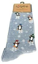 Christmas Penguins Snowflakes Men's Crew Size 6-12 Sock Size 10-13 1 Pair - $14.99