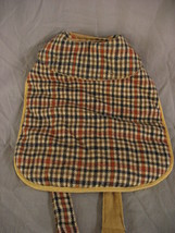 Plaid Dog Jacket Size Small Brown And Black Cape Style Collared  - $5.84