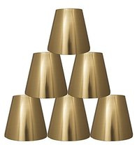 Urbanest Set of 6 Metallic Hardback Chandelier Lamp Shade, 3-inch by 5-inch by 4 - $37.61