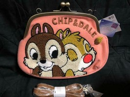 Disney Chip and dale Sagara embroidered gutter shoulder bag purse pouch bag - $56.43
