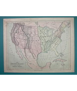 1875 MAP COLOR - United States Divided into Physical Groups - $6.71
