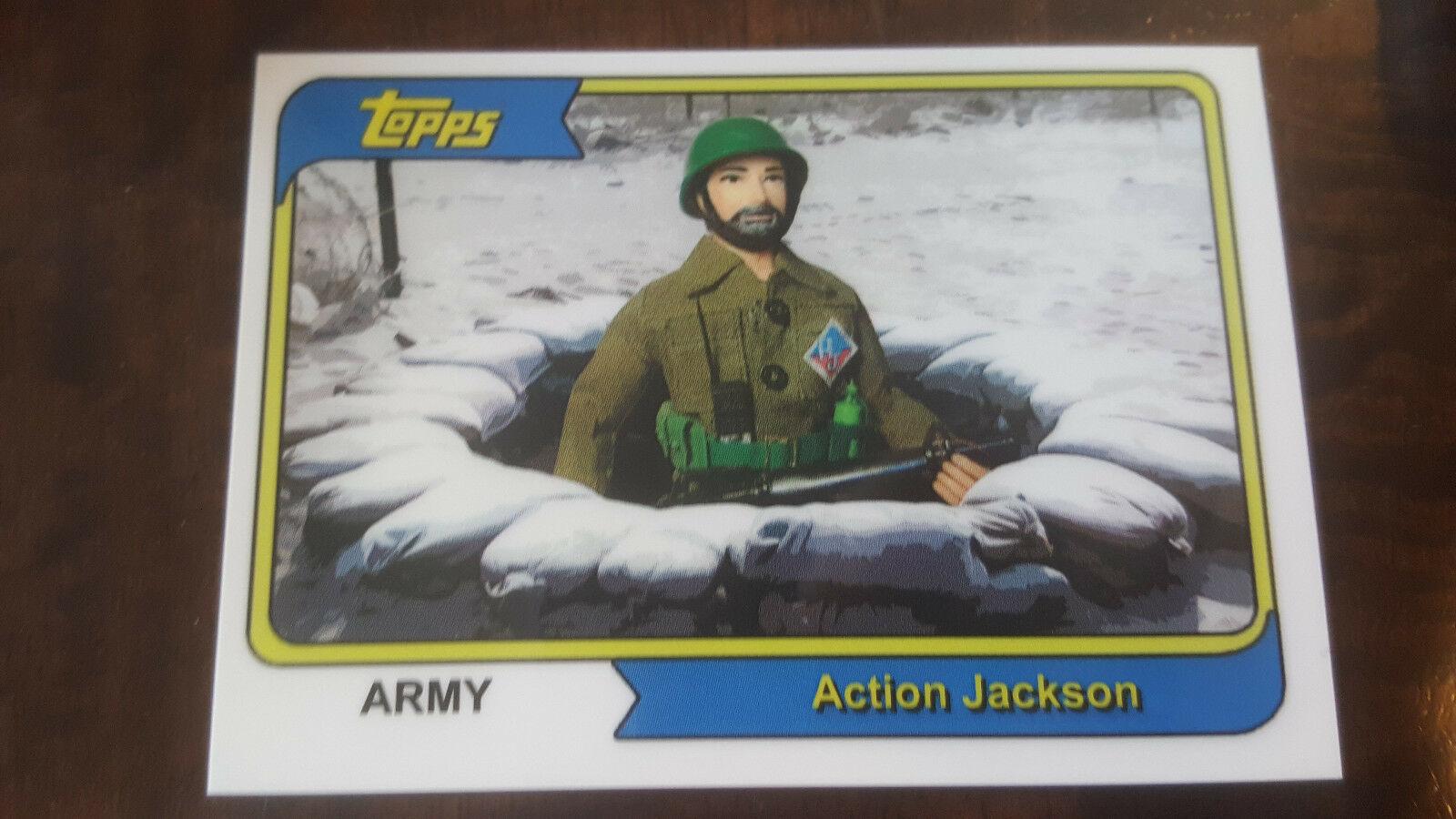 2008 Topps Mego Musée Action Jackson Armée Promo Carte Seulement 30 Conçu #12